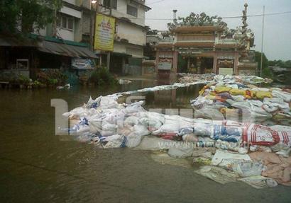 น้ำท่วมตลาดรังสิต